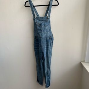 Free People Light Wash Overalls Size 26